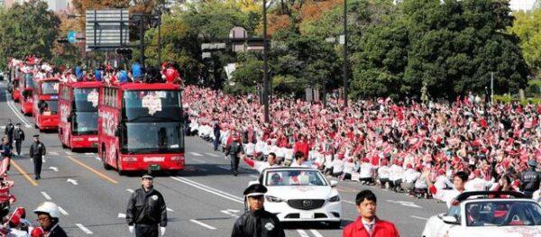 広島カープ優勝パレード